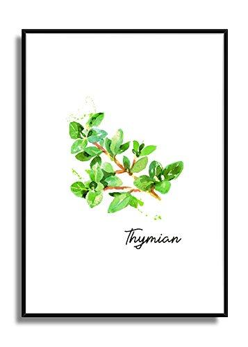 Wandbild Kunstdruck Poster THYMIAN im A4 Format, moderne Bild Deko für die Küche