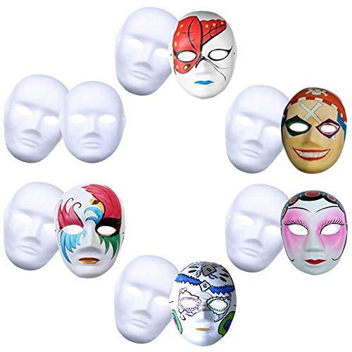 Männlich Festival Kostüm - DGDJ Weiße Maske pappmaske weiße Maske pappmaske einfarbig DIY malerei kostüm Festival Party Direktor männlich 12