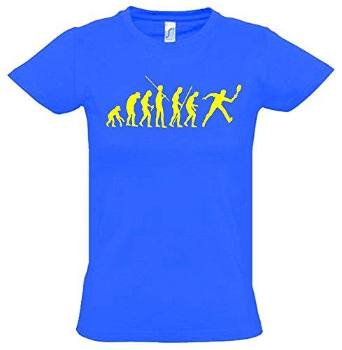 TENNIS Evolution Kinder T-Shirt blau-gelb, Gr.152cm