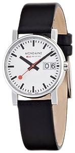 Reloj de mujer Mondaine A669.30305.11SBB de cuarzo, correa de piel color negro de Unknown