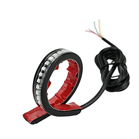 KKmoon LED Light Strips, Flexible LED Lights Brake/Rear LED Strip Lights 32 LED Brake Bright Stick Light Motorcycle Flexible Strip Tail Turn Signal Brake Light Strip LED Integrated Motorcycle Light Strip License Plate Lamp Tail Brake Light Turn Signal Indicator Lamp Soft Silicone