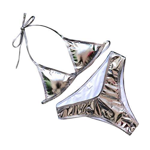 TWIFER Damen Bikini Solid Badeanzug Zweiteiliger Gefüllter BH Bademode ()