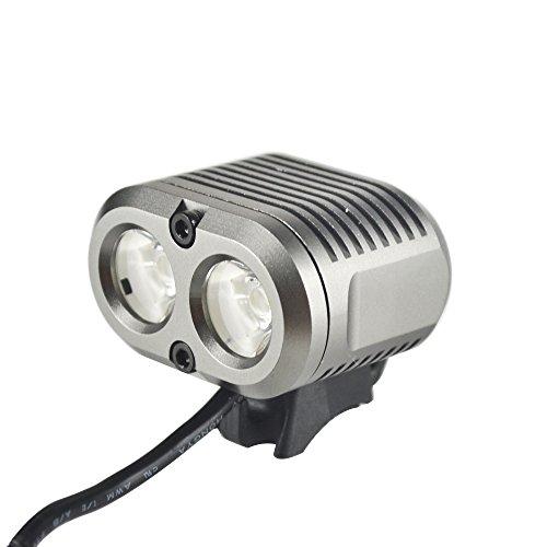 OZO Lampe Leuchtturm Beleuchtung High Power für Mountainbikes Wandern 2000Lumen-Halterung Lenker und Stirn inklusive