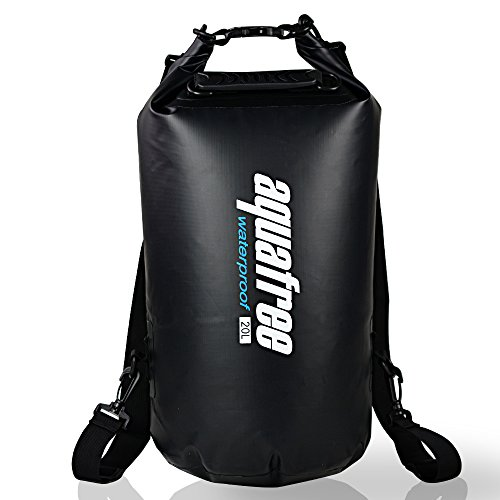 aquafree-dry-bag-10l-black-tube-waterproof-bag-removable-and-adjustable-shoulder-strap-comfortable-a