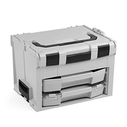 Bosch Sortimo LS-Boxx 306 Werkzeugkoffer Set | Inklusive L-Boxx 72 C3 & LS-Schublade 72 | Bosch Werkzeugkoffer Leer | Kompatibel mit LBoxx