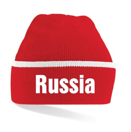 world-of-shirt Russia / Russland Mütze|gestreift