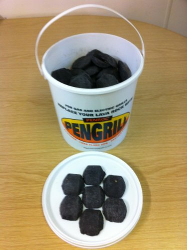 PENGRILL 6 Litre tub Lava Rock (Lavasteine) Replacement Ceramic Briquettes