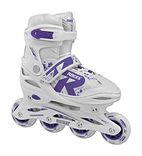 Roces Mädchen Jokey 2.0 Girl Inline Skates, White-Ultra Violet, 34-37