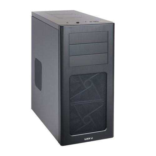 Lian Li PC-7HX Midi-Tower PC-Gehäuse (micro-ATX, 4x 3,5 HDD, 1x 2,5 HDD, 2x USB 3.0) schwarz (Lian Li Pc-gehäuse)