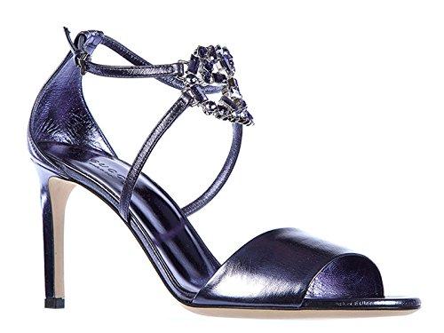 Sandali tacco alto Gucci donna in nappa viola - Codice modello: 374031 B8B00 4252 - Taglia: 39 IT