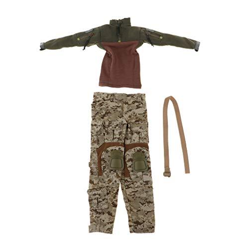 Hellery 1/6 Combat Uniform Anzug Green Anzüge Set Kleidung Hosen Für Weibliche Puppen
