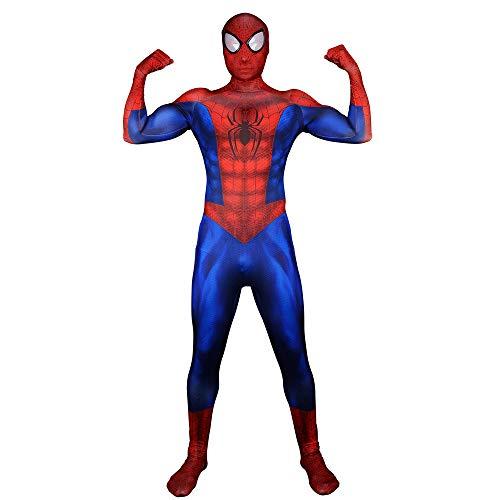SEJNGF Ultimate Muscle Spiderman Siamesische Strumpfhose Halloween Cosplay Kostüm Avengers Set (Kopfbedeckungen Können Getrennt Werden),Adult-XXL (Ultimate Thor Kostüm)