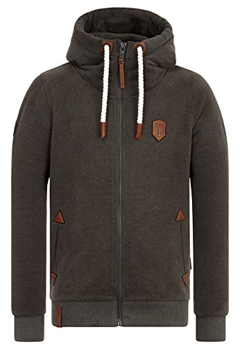 Naketano Male Zipped Jacket Dirty Schwarzkopf Dirty Leaf Green Melange