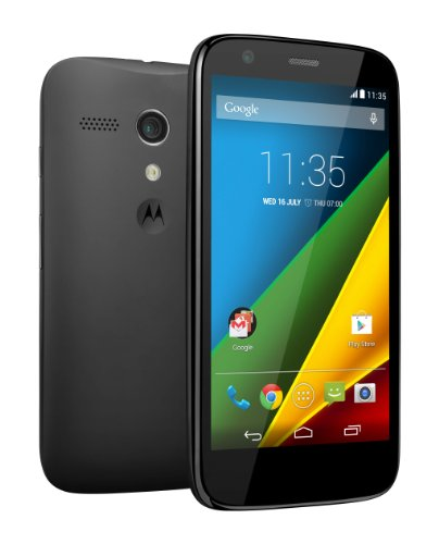 Motorola Moto G LTE Smartphone, Display 4.5', Fotocamera 5 MP, Memoria 8 GB, Quad-Core 1.2 GHz, 1 GB RAM, Android 4.4.3, Nero [Regno Unito]