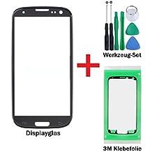 iTech Germany PREMIUM Pantalla de cristal kit de reparación para Samsung Galaxy S3 en Negro - Oleofobico panel frontal táctil para i9300 i9301 i9305 NEO LTE + 3M Adhesivo y de 7-Piezas Juego de herramientas