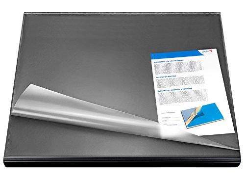 Läufer 44626 Durella Flexoplan Schreibtischunterlage mit Kantenschutz und transparenter Auflage, 52...