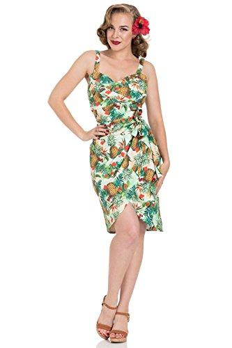 Voodoo Vixen Peggy Tropische Retro 50er Jahre Pin-Up Kleid - Multi (M - 36)