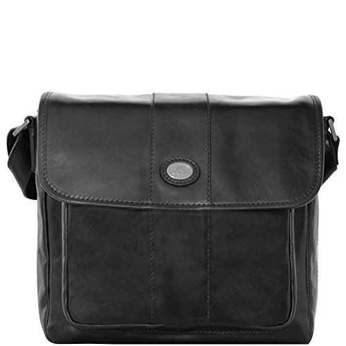 The Bridge Passpartout Sac bandoulière cuir 30 cm nero