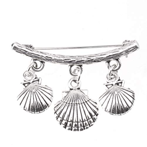 Agoky Damen Muschel/Octopussen Brosche Pin Ansteckernadel Modeschmuck Pullover Schal Gardigan Sicherheitsnadel Silber Silber A One Size