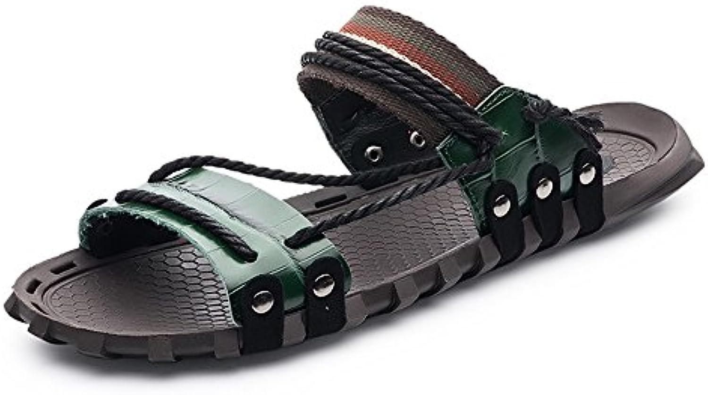 Chanclas para Zapatos de Playa, diseño Verde para Zapatillas cómodas de Color Verde (24.0-28.5cm) -