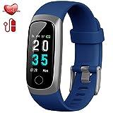 Trswyop Fitness socken mit Pulsmesser, Fitness Tracker Uhr Wasserdicht IP67 Blutdruckmesser Farbbildschirm GPS Aktivitätstracker Stoppuhr Schrittzaehler Schlafüberwachung für Kinder Damen Herren