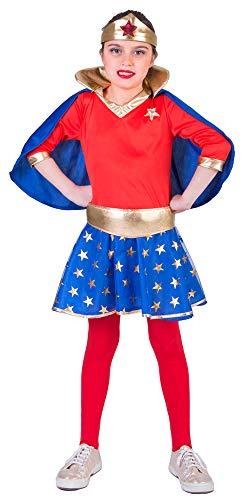 Super Girl Kostüm für Mädchen - Gr. 128