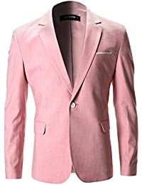 FLATSEVEN Slim Fit Veste Chic Blazer En Coton Homme