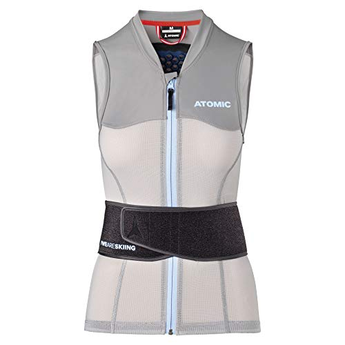 Atomic Damen Ski-Protektor-Weste Live Shield Vest AMID W, mit AMID-Body, Größe M, grau, AN5205014M