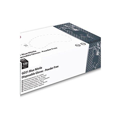 Guanti in Nitrile, Shield-Confezione di 100, senza polvere, Gd21