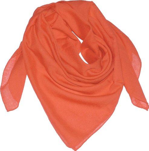 men Herren Baumwolltuch in vielen Farben 100 x 100 cm, Farben:orange, Größen:Einheitsgröße (Orange Schal Für Männer)