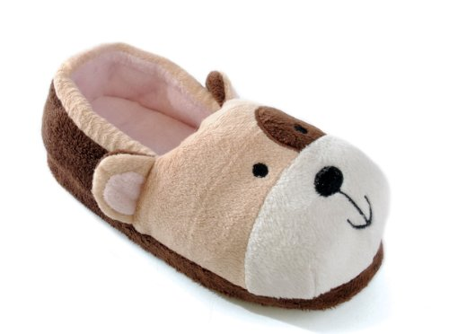Slumberz , Chaussons pour fille Marron - Brown Dog