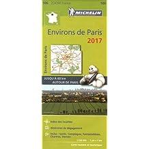 Carte Environs de Paris Michelin 2017