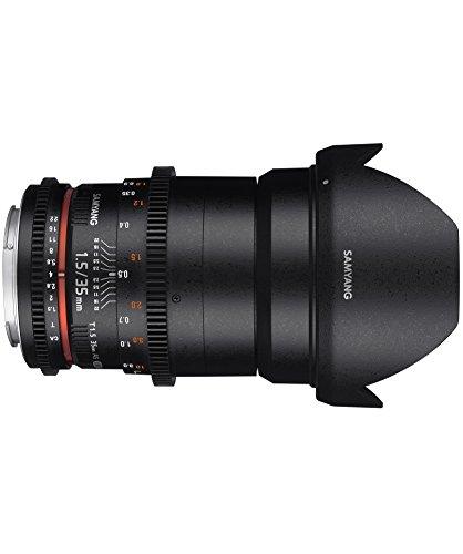 Samyang 35 mm T1.5 VDSLR II Manual Focus Video Lens for Canon DSLR Camera