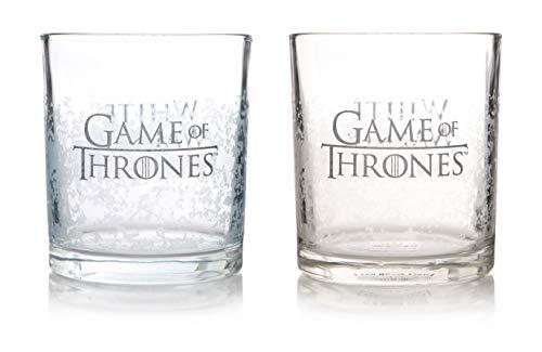 Half Moon Bay Game of Thrones   White Walker Trinkgläser   2 Stück   Offiziell lizenziert
