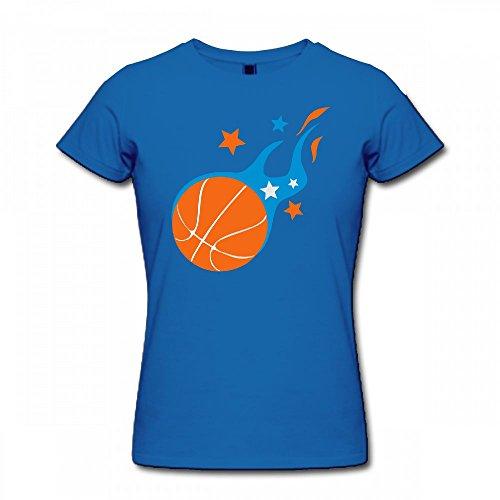 qingdaodeyangguo T Shirt For Women - Design Basketball Shirt Blue