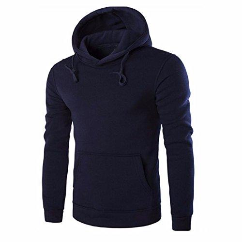 Men's Sweat Shirt Work Wear Tops Lots Casual Hoodies Dark Blue