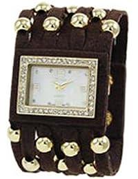 Funda de piel y inspirado en color block watch-black