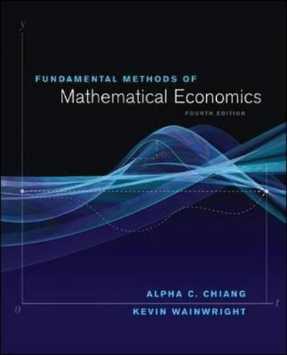 Fundamental Methods of Mathematical Economics por Alpha Chiang