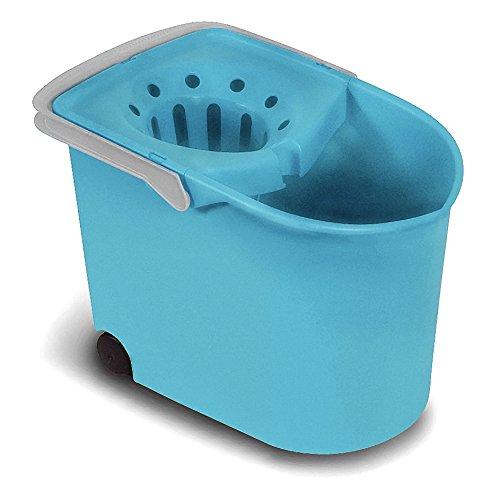 TATAY Cubo de Fregar con Ruedas y Escurridor, Capacidad para 12 Litros, Color Turquesa