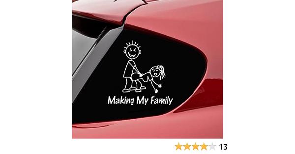 Aufkleber Autoaufkleber Jdm Die Hart Making My Stick Figure Family Funny Auto Laptop Tuning Sticker Decal Heckscheibe Lkw Sticker 127mmx127mm Auto