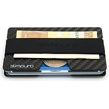 Carbon Kreditkartenetui mit Münzfach und Geldklammer - mit MultiTool-Card - RFID / NFC Schutz - Slim Wallet