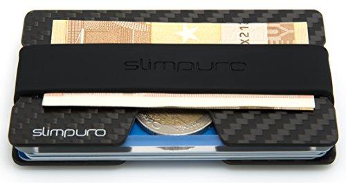 Geldbörsen Einzigartige (Carbon Kreditkartenetui mit Münzfach und Geldklammer - mit MultiTool-Card - RFID / NFC Schutz - Slim)