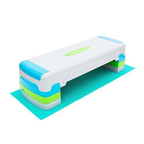 #DoYourFitness® XL Aerobic Steppbrett   Stepper inkl. Unterlegmatte - höhenverstellbar (3 Stufen : 15cm 20cm 25cm) - Maße 90x32cm - Rutschfeste Oberfläche - Fitness   Body-Workout Step Zanna