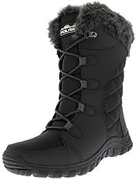 a5fbe7f19 Mujer Acolchado Ata para Arriba Impermeable Negro Al Aire Libre Forrado De  Piel Bofetada Nieve Lluvia