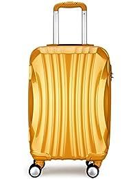 Maleta 4 ruedas ABS PC equipaje ligera 68x40x26 cm diamante maleta viaje Dorado