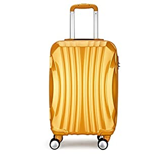 PARTYPRINCE – Maleta  adultos unisex dorado dorado 68*40*26cm