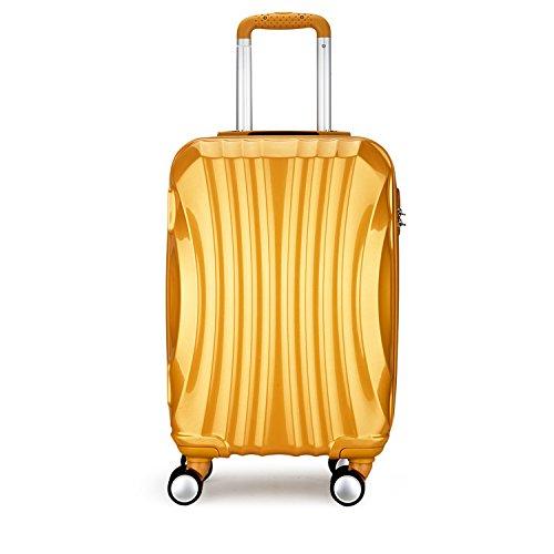 Valigie trolley media leggere 4 ruote bagaglio rigido 67 centimetri alluminio argento 20173m oro partyprince