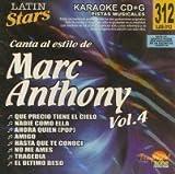 Karaoke: Marc Anthony 4 - Latin Stars Karaoke by Anthony, Marc (2008-10-09)