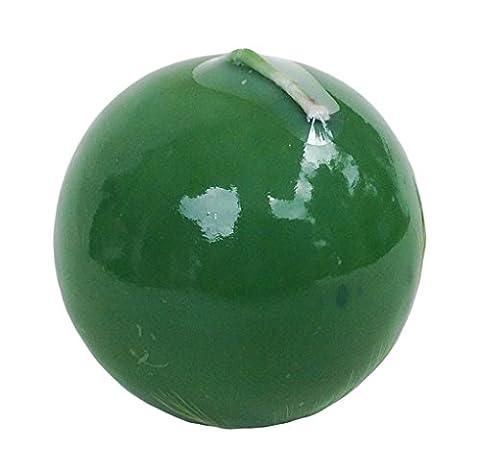 Apple & Cannelle parfumée Bougie Boule solide couleur vert 7x 7cm Table Bistro Fête de Noël Bougies Pilier vert