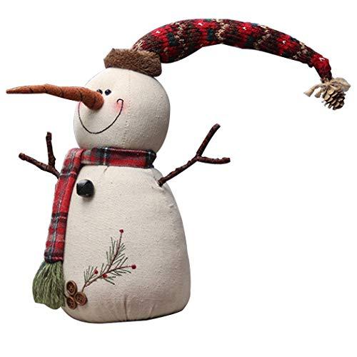 Funpa Weihnachtspuppe Lovely Vivid Snowman Schreibtisch Dekoration Xmas Party Decor